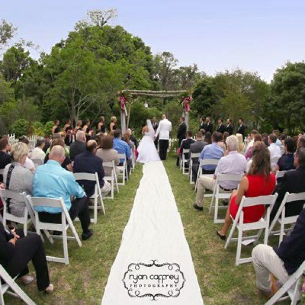wedding processional at kanapaha gardens