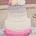 ruffled, soft-colored, ombre frosting
