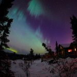 Aurora Borealis in the winter