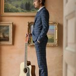 Groom with his guitar