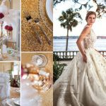 Speakeasy wedding reception table decorations