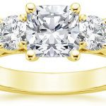 Three Stone Trellis Diamond Ring