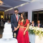 Abirami and Dilshan cut their cake