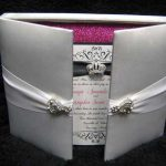 Silver padded cover invitations