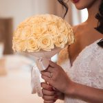 Wedding peach roses