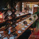 Rustic wedding reception layout