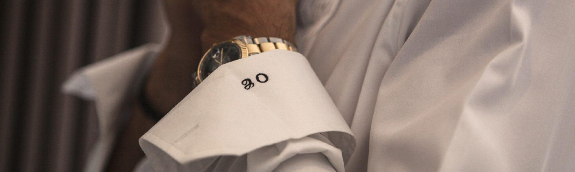 Groom's cuff monogram