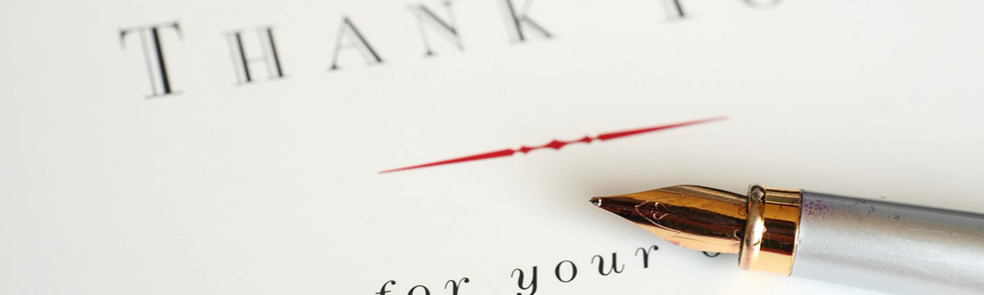 writing thank you notes