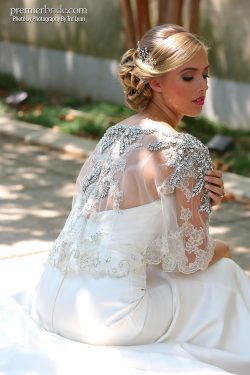 wedding gown with jewels