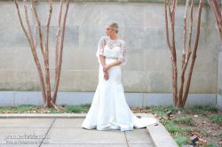 wedding gown with overlay